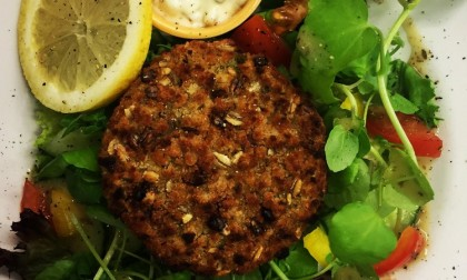 Salmon & Spinach Fishcake